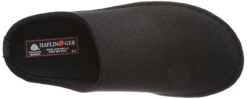Haflinger Flair-Soft - Pantuflas de lana unisex Negro (3 schwarz)