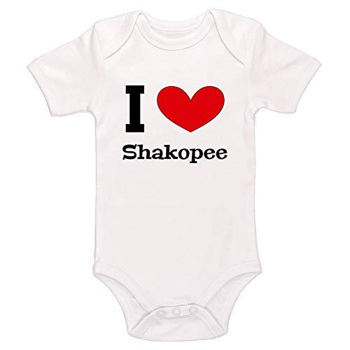 Kinacle I Love Shakopee Baby Bodysuit (18-24 Months, White) -