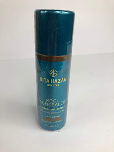 (Root Concealer-Rita Hazan- Touch Up Spray-Light Brown Cover Up Gray 2 Oz)