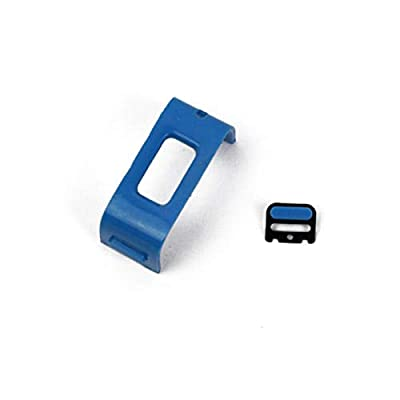 Games&Tech Blue Replacement Button and Charging Clasp Plastic Band Clip T for Fitbit Charge HR Activity Tracker