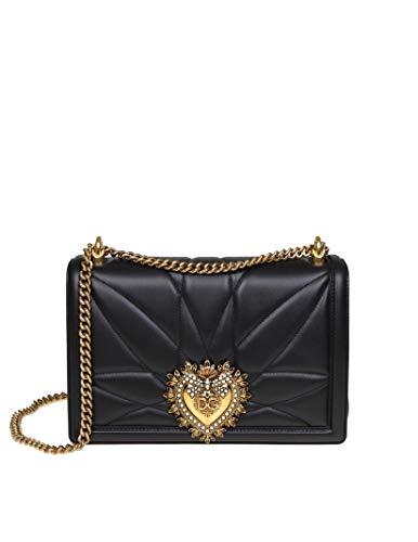 - Dolce E Gabbana Women's Bb6651av96780999 Black Leather Shoulder Bag