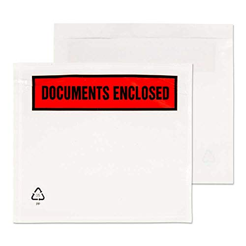 (Purely Packaging A7 123 x 111 mm Printed Document Enclosed Wallet (Boxof)
