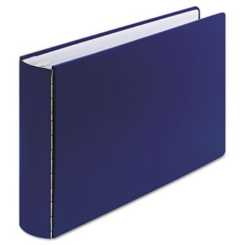 Wilson Jones 34690NB Casebound Round Ring Binder, 2-Inch Cap, 11 x 17, Blue by Wilson Jones