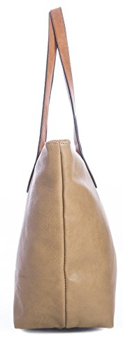 Metallic Womans Handbag Shop Big Coral Shoulder Gold Designer Tote Bag Soft Plain fn66xvwq