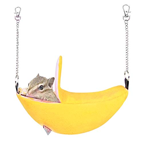 KUDES Banana Hamster Bed House Hammock Small Animals Hanging Warm Bed House Cage Nest Hamster Accessories