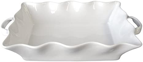 Bia Cordon Bleu Wavy Collection 3 Quart Rectangular Baker With Handles White Casseroles Kitchen Dining
