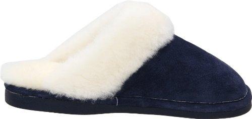 Vecchia Amica Scarpa Da Donna Ampia Pantofola Blu Scuro