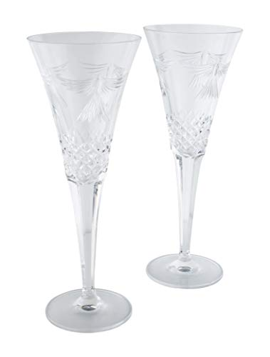 Waterford Millennium Collection Peace Toasting Flutes