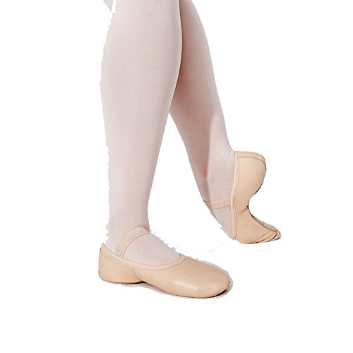 Capezio Girls Lily Leather Ballet Shoe, Ballet Pink, 11M