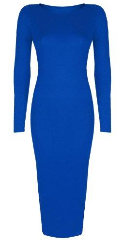 Donna Reale Baleza Vestito lunghe Maniche Blu 4qtfrtX