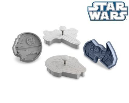 Star Wars Cookie Cutter 8 Pc Set Complete Saga: Death Star, Millennium Falcon, X-wing Fighter and Darth Vader's TIE Fighter, C3PO, Chewbacca, Darth Vader, Yoda. Make Cookie, Fondant with your Kids.