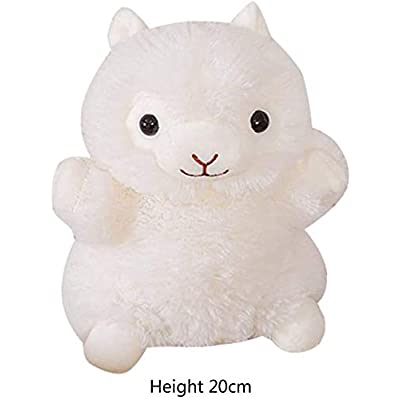 Cartoon Animal Plush Glove Toys Biological Children Baby Doll Kids Educational Hand Puppets Toy (Color : White, Size : 20cm): Home & Kitchen