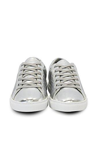 TRUSSARDI JEANS by Trussardi - Zapatos de cordones de Piel para mujer plateado
