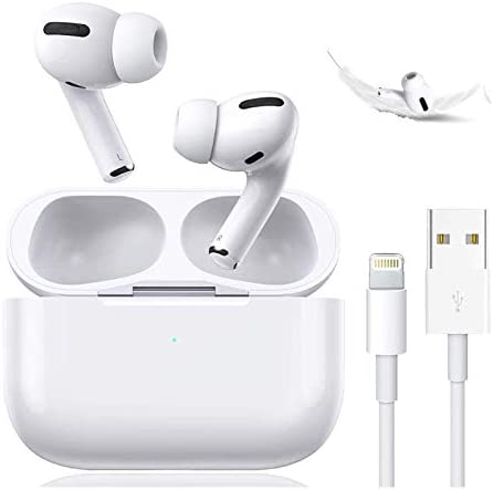 Wireless Earbuds Bluetooth 5.0 Headset Earbuds Headphones Built-in Microphone and Charging Box,3-D Stereo Noise Cancelling Earbuds, Suitable for Apple Airpods professional Android/iPhone/Samsung
