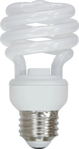 GE Lighting 72472 Energy Smart Spiral CFL 13-Watt (60-watt replacement) 825-Lumen T2 Spiral Light Bulb with Medium Base, 1-Pack (Energy Smart Spiral)