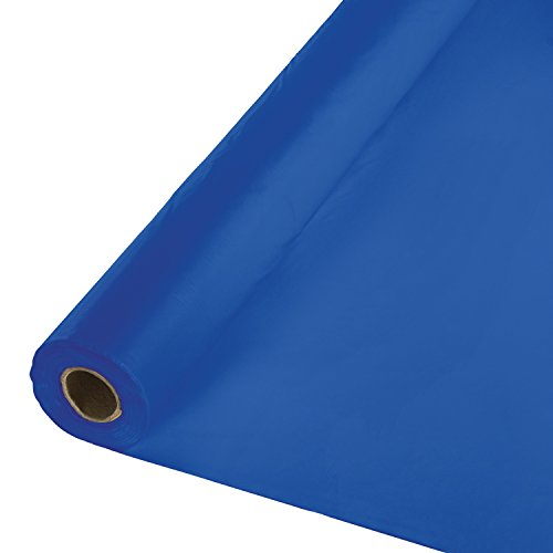 Check expert advices for plastic table cover roll blue?