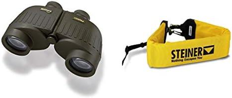 Steiner 7×50 Military Marine Binoculars 2038 w Steiner Clic-Loc Float Strap