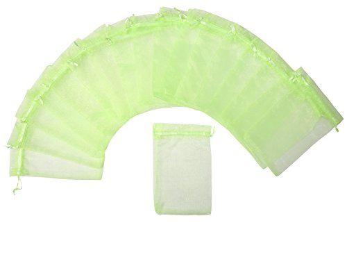 ZUUC Colorful Organza Drawstring Pouch Bag, 5''W x7