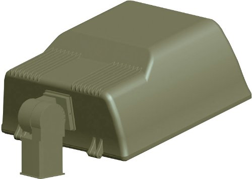 RAB Lighting ALS250SFQT/PCS Area Light 250W Hps Qt Hpf Type Ii Slipfitter + 120V Photocell Bronze ()