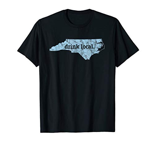 Craft Beer North Carolina Map T-Shirt Drink Local