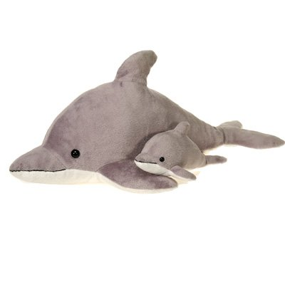 Gray Dolphin Plush Stuffed Animal Toy by Fiesta