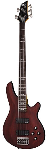 Vollers Ivory Satin - Schecter OMEN-5 5-String Bass Guitar, Walnut Satin