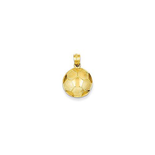 Roy Rose Jewelry 14K Yellow Gold Soccer Ball Pendant 14k Yellow Gold Soccer Ball