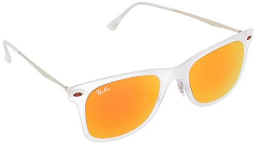 Price comparison product image Ray-Ban Women's Tech Light Sunglasses, Matte Transparent/Orange, One Size