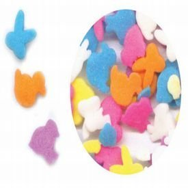 Dress My Cupcake DMC27262 Decorating Edible Cake and Cookie Confetti Sprinkles, Mixed Easter Assortment, 2.6-Ounce