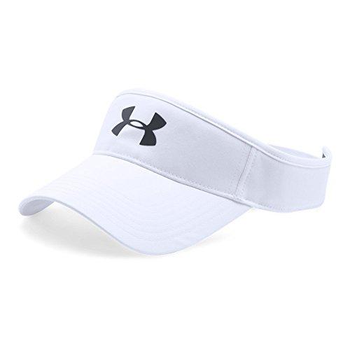 Under Armour Men's Headline Golf Visor, White (100)/Black, One Size