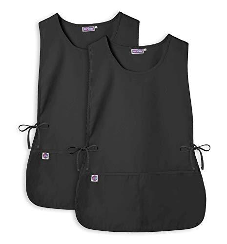 Sivvan Unisex Cobbler Apron (2 Pack) - Adjustable Waist Ties, 2 Deep front Pockets - S87002 - Black - R