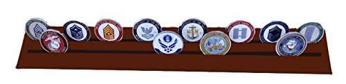 DECOMIL Military Collectible Challenge Coin& Poker Chips Holder, Large- 2 Rows by DECOMIL