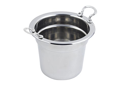 up Tureen, Plain Design with Round Handles, Stainless Steel (Round Tureen)