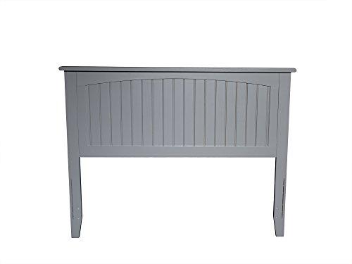 Atlantic Furniture AR282839 Nantucket Headboard, Full, Grey