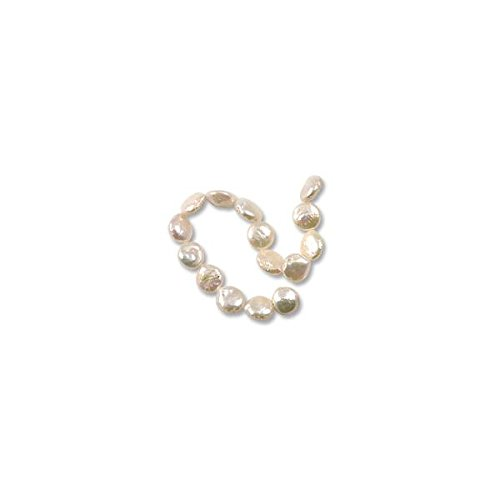 Freshwater Coin Pearls Baroque White 10-11mm (16