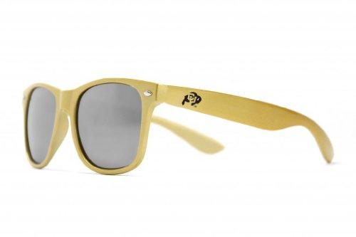 NCAA Colorado Buffaloes Sunglasses-Gold Frame, Silver Lenses, Gold, One Size, ()
