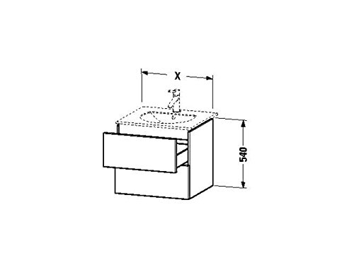 Duravit Waschtischunterschrank wandh. Delos 426x500x540mm 2 SchKa, für 049953, eiche gebürstet, DL63