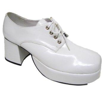 6dbdc7c7368c 60 s fancy dress white mens platform shoes size 12-14  Amazon.co.uk  Shoes    Bags