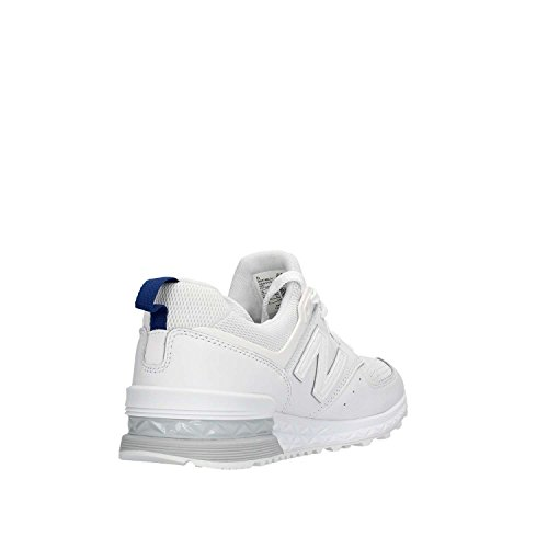 Con E Para Pelle Sneaker Tessuto Gomma Logo Laterale Tecnico In White New Balance tqY0UU
