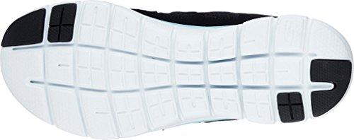 Skechers deportivo de mujer de cordones , con plantilla de memory foam ,alto confort. 12761 nvhp marino negro y turquesa