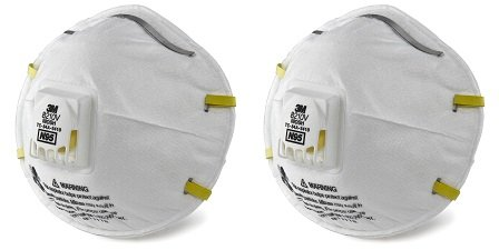 3M Personal Protective Equipment 70071606589 3M 8210V Particulate Respirator, N95 Respiratory Protection (Case of 80) (2-(Case of 80))