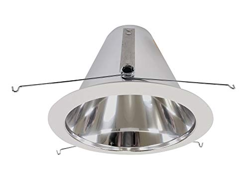 NICOR Lighting 6-Inch Cone Reflector Trim with White Trim Ring (17552A)