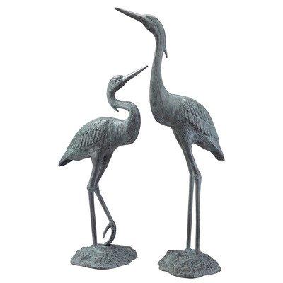 SPI Home 33223 Garden Heron Pair Sculpture