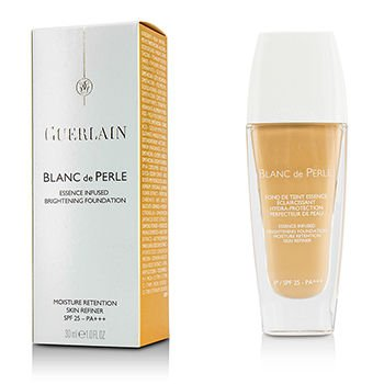 Guerlain Blanc De Perle Essence Infused SPF 25 No. 02 Light Beige Brightening Foundation for Women, 1 Ounce ()