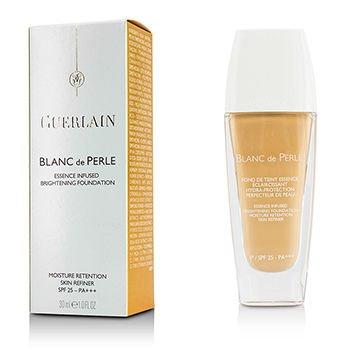 Guerlain Blanc De Perle Essence Infused SPF 25 No. 02 Light Beige Brightening Foundation for Women, 1 Ounce - Guerlain Beige Soft Foundation