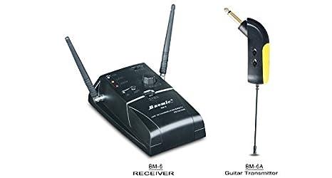 Nueva BM-6 UHF sistema de micrófono inalámbrico Audio iinstrument para guitarra eléctrica: Amazon.es: Instrumentos musicales