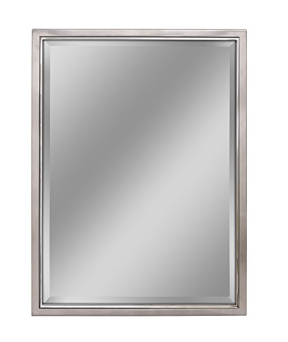 Head West 30 x 40 Classic Brush Nickel/Chrome Mirror, 30x40