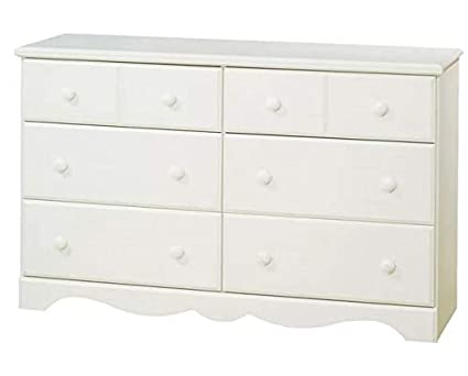 Amazon.com: Chester Drawers - White Wash Wood Six Drawers ...