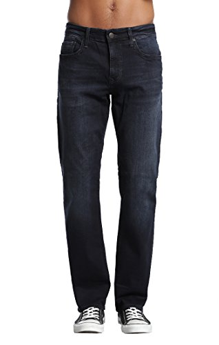 Brushed Denim Jeans (Mavi Men's Matt Classic Mid-Rise Relaxed Straight-Leg Jeans, Ink Brushed Williamsburg, 32W x 30L)