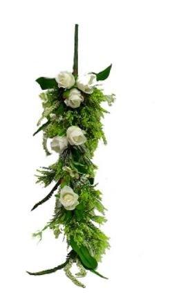 30'' Teardrop Swag Silk Wedding Flowers Home Party Decor (Cream)